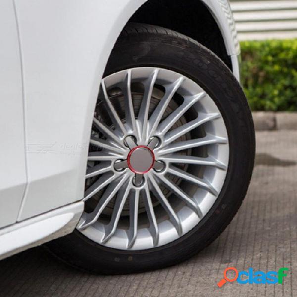 4 unids metal rueda rueda rueda circular círculo recortar pegatinas para audi a3 a4 a5 a6 a7 a8 q3 q5 q7 s3 s4 s5 s6 s7 s8