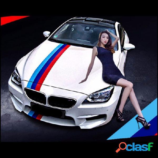 Etiqueta engomada del estilo del coche bandera de tres colores pvc raya calcomanía etiqueta de parachoques decoración del coche pegatinas verde italiano