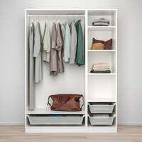 Combinación armario, blanco, 150x58x201 cm