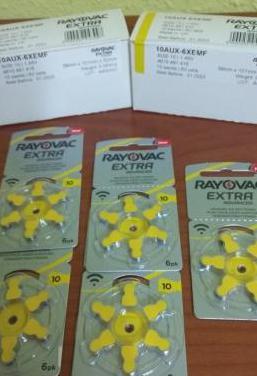 Pilas para audífonos rayovac amarillas