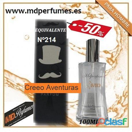Oferta perfume hombre nº214 creeo aventuras alta gama 100ml 10€