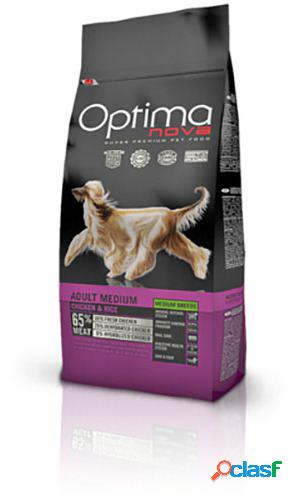 Optimanova adult medium pollo y arroz 12 kg