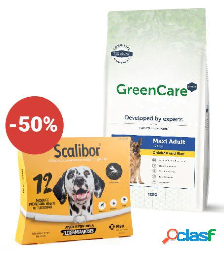 Scalibor + greencare nutrition adult maxi chicken & rice 12 kg 12 kg
