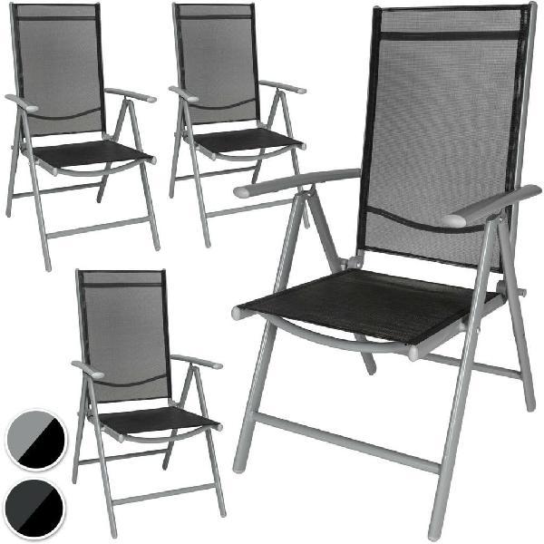 Aluminio sillas de jardín plegable alu sillón balc