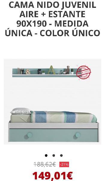 Cama nido habitación juvenil (+ armario)