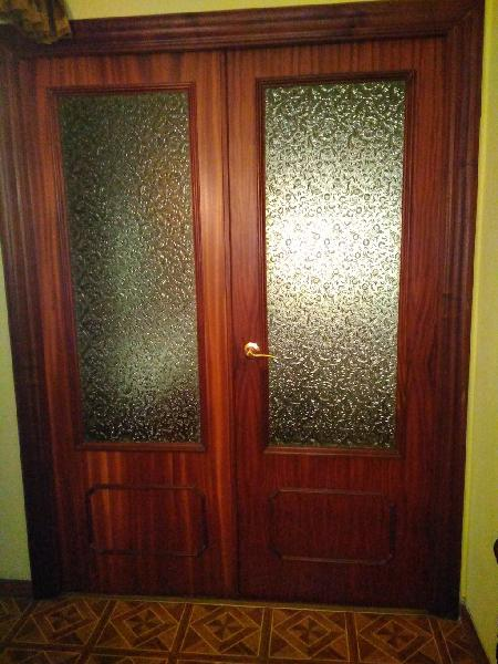 Doble puerta acristalada