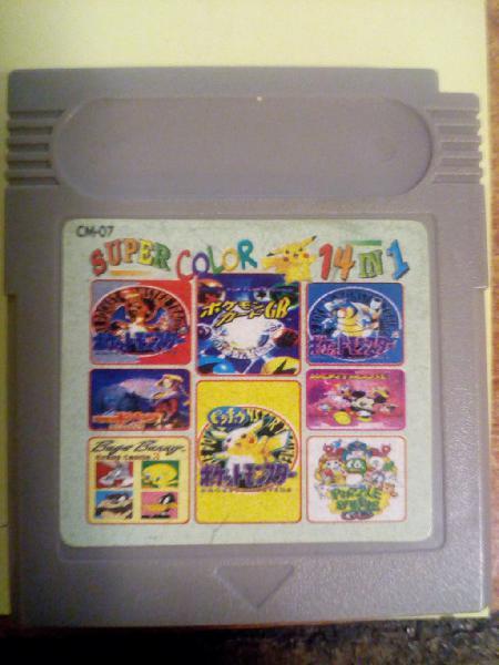 Juegos game boy color 14 juegos en 1 amarillo