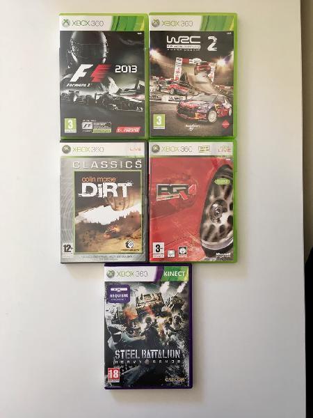 Lote de 5 juegos Xbox 360