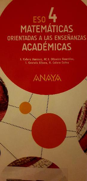 Matematicas 4 eso anaya