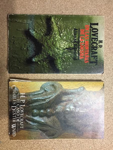 Pack de dos libros de lovecraf