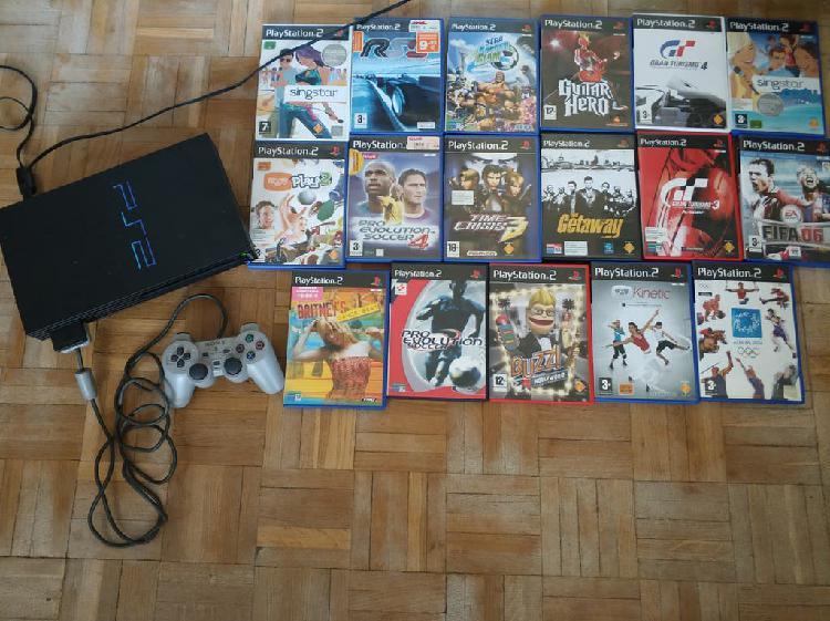 Playstation 2 más 17 juegos originales