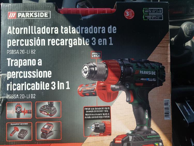 Taladro percutor parkside 20v +2 baterías