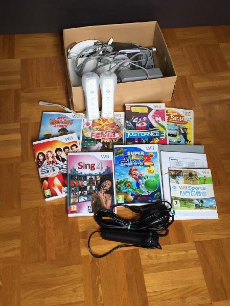Wii completa con mandos, juegos y accesorios