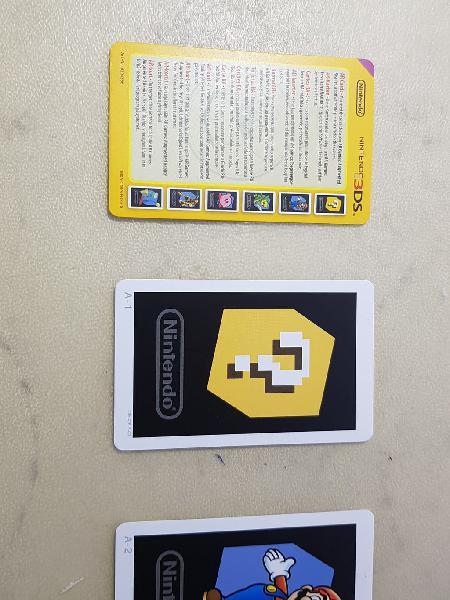 Cartas amiibo. ar cards. cartas ra.
