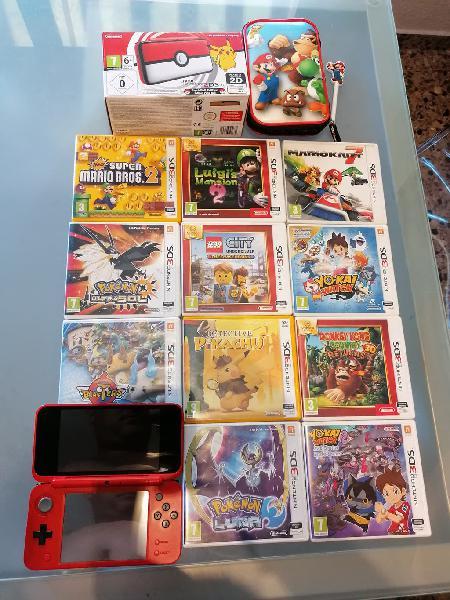 Consola nintendo 2ds xl. edición pokémon