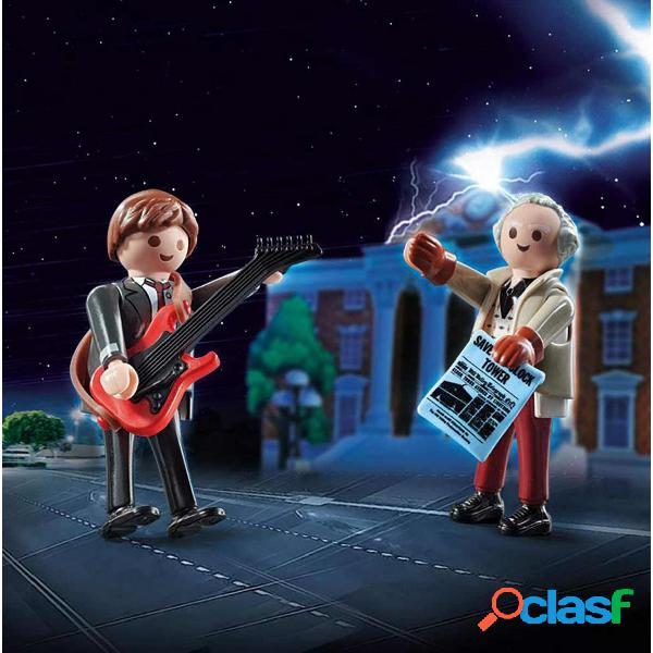 Playmobil back to the future marty mcfly y dr. emmett 70459