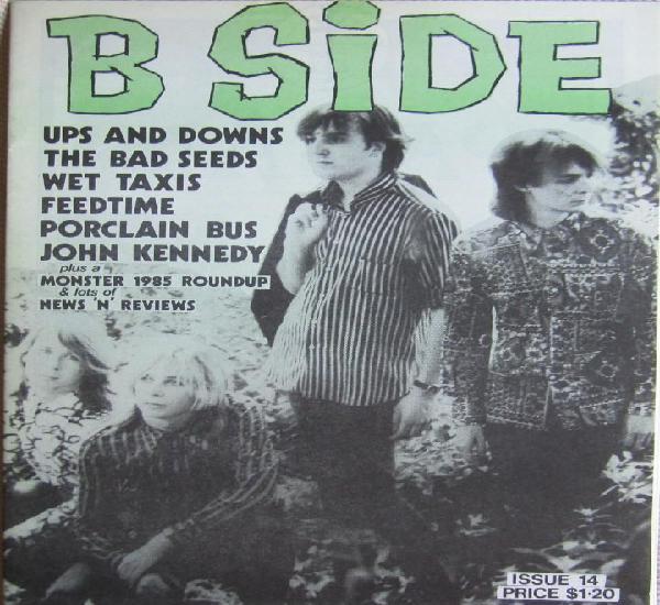 B side nº 14. fanzine original australia de 1985. rock