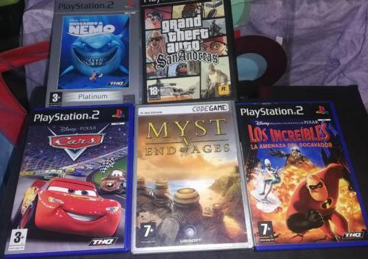 Juegos play station 2 y ordenador