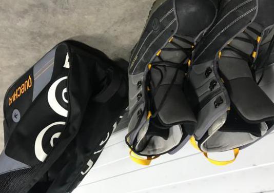 Tabla snowboard funda botas bolsa.