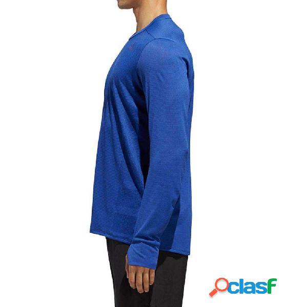 Camiseta M/l Running Adidas Supernova Tee Azul M 1