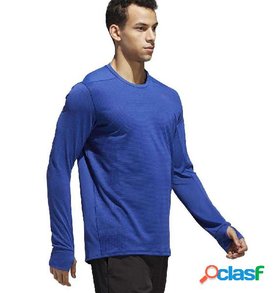 Camiseta M/l Running Adidas Supernova Tee Azul M 2