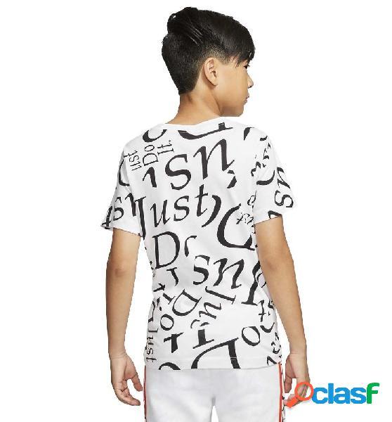 Camiseta casual niño nike sportswear unisex manga corta blanco m