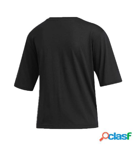Camiseta M/c Casual Mujer Adidas Univ Tee 1 W Negro S 1