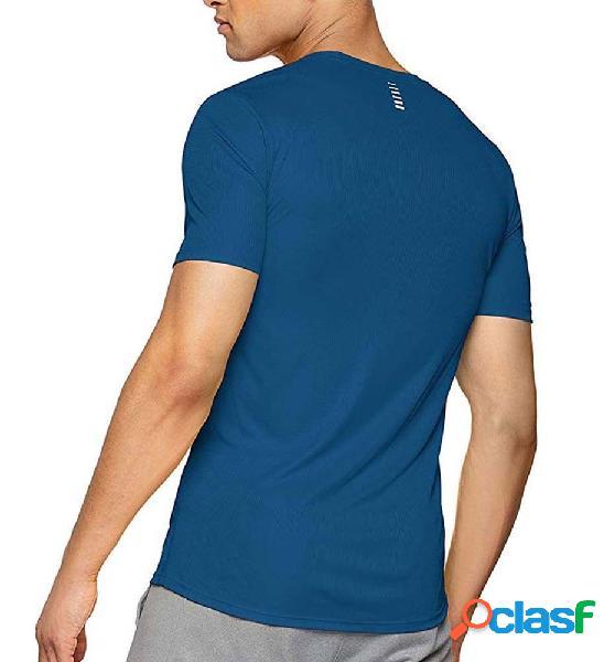 Camiseta running hombre under armour ua run graphic tee azul s