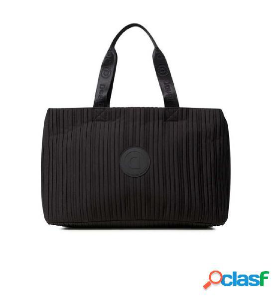 Bolso casual mujer desigual duffle bag pleats negro unica