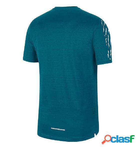 Camiseta running hombre nike dri-fit miler azul xl