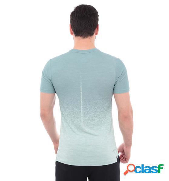 Camiseta running hombre nike techknit cool manga corta azul xl