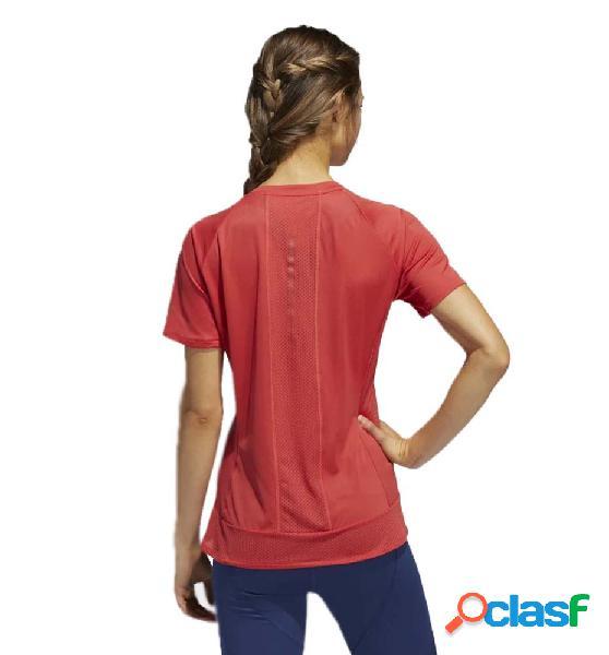 Camiseta running mujer adidas 25/7 tee runr rojo xs