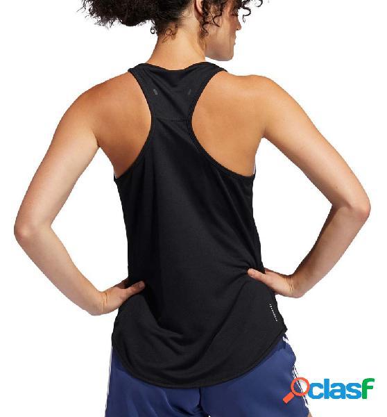Camiseta sin mangas running mujer adidas run it tank 3s negro xs