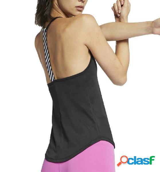 Camiseta running mujer nike graphic tirantes l negro