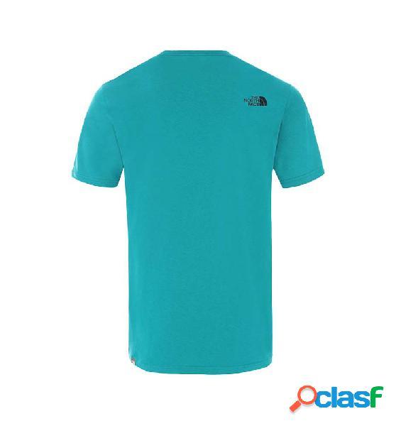 Camiseta casual hombre the north face m s/s mount line tee manga corta azul s