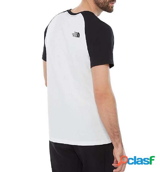 Camiseta m/c casual the north face m ss raglan easy tee blanco l