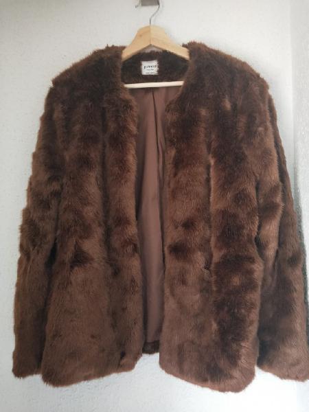 Chaqueta abrigo pimkie imitación pelo talla l