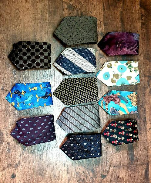 Corbatas, seda, algodón, armani, warner y mas