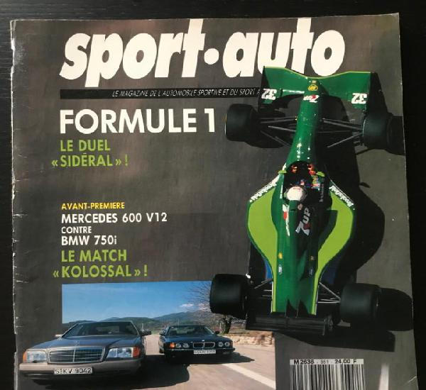 Sport auto nº 351 - bmw 750i 850i mercedes 600 v12 lotus