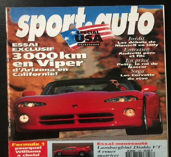 Sport auto nº 373 - chrysler viper corvette especial usa