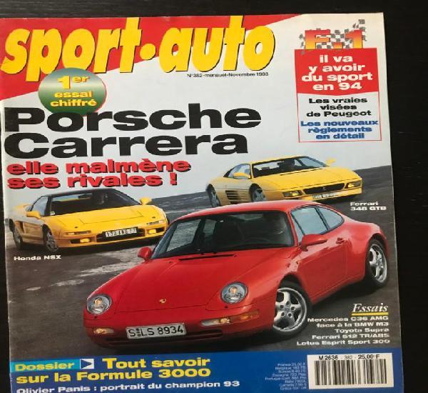 Sport auto nº 383 - porsche carrera ferrari gtb honda nsx