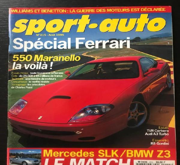 Sport auto nº 415 - ferrari 550 maranello - audi a3 /