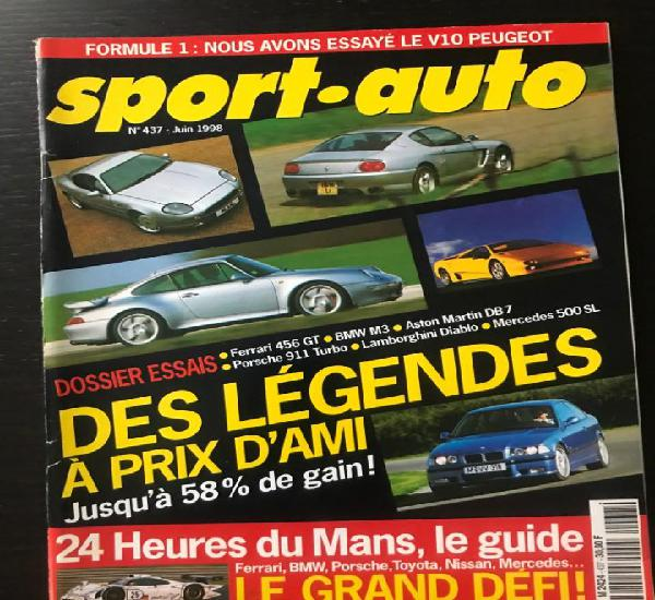 Sport auto nº 437 - ojjeh - jaguar xkr - jaguar xk 120 -