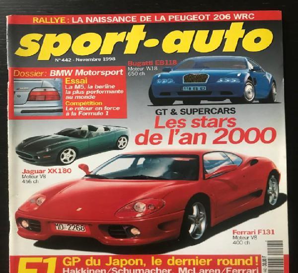 Sport auto nº 442 - bmw motor sport - porsche 911 carrera 4
