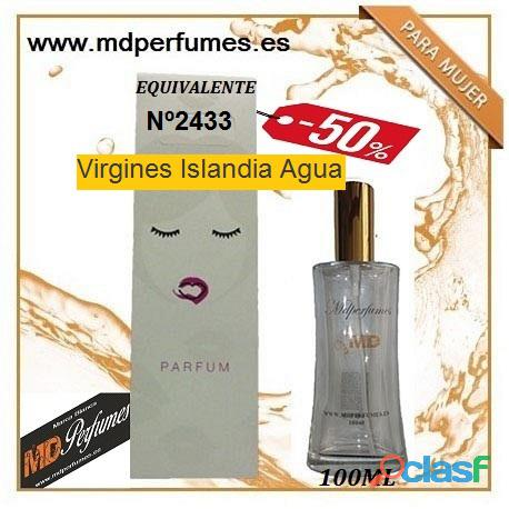Oferta Perfume mujer Virgines Islandia agua Nº2433 Alta Gama 100ml