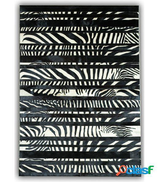 Cebra stripes. alfombra de piel.