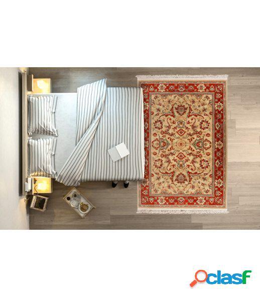 Persia 822. alfombra clásica de pura lana virgen.