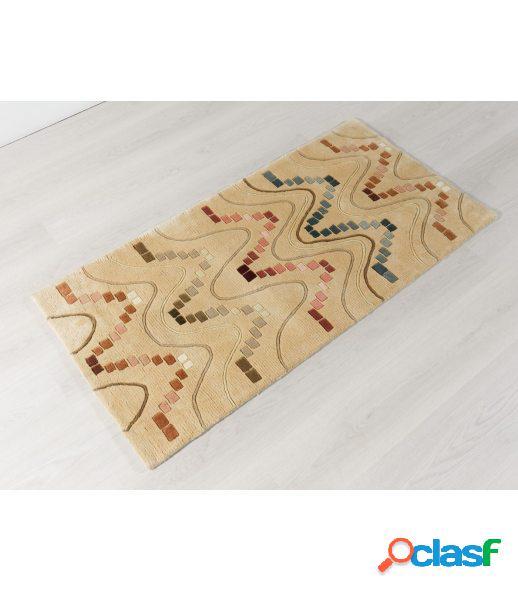 York 03. alfombra moderna de pura lana virgen.