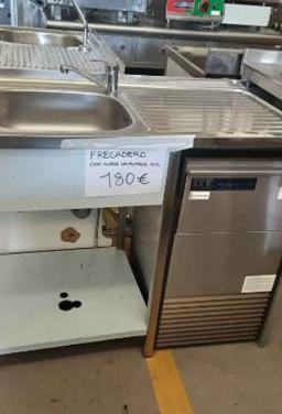 Fregadero inoxidable con hueco para lavavasos ...