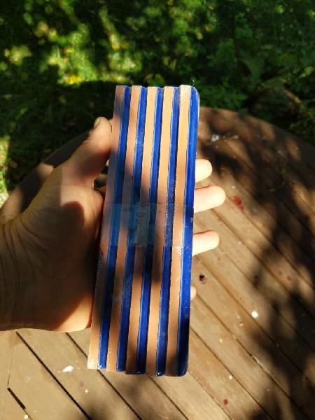 60 listeles azul cobalto 2x20cms nuevos